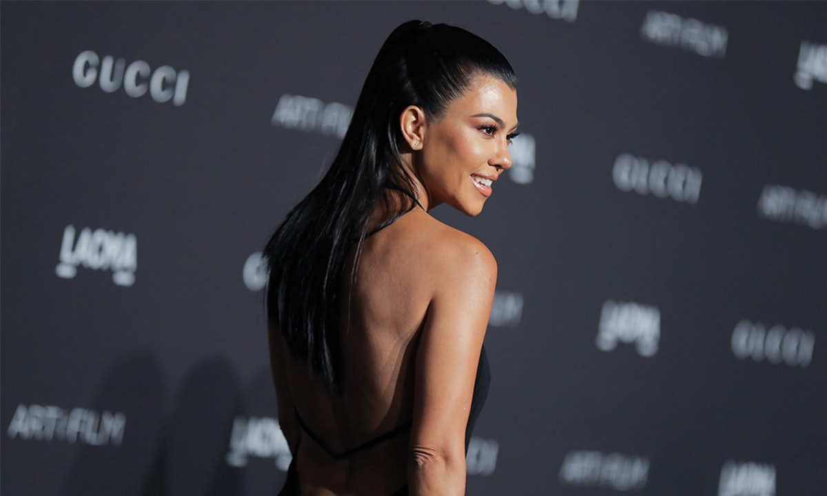 Kourtney Kardashian's Bustier & Trouser Combo Is A Fresh Take On Power Suiting