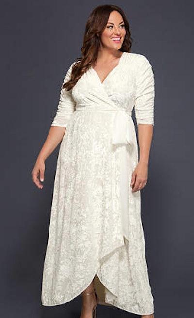 Vie En Velvet Plus Size Wrap Wedding Dress