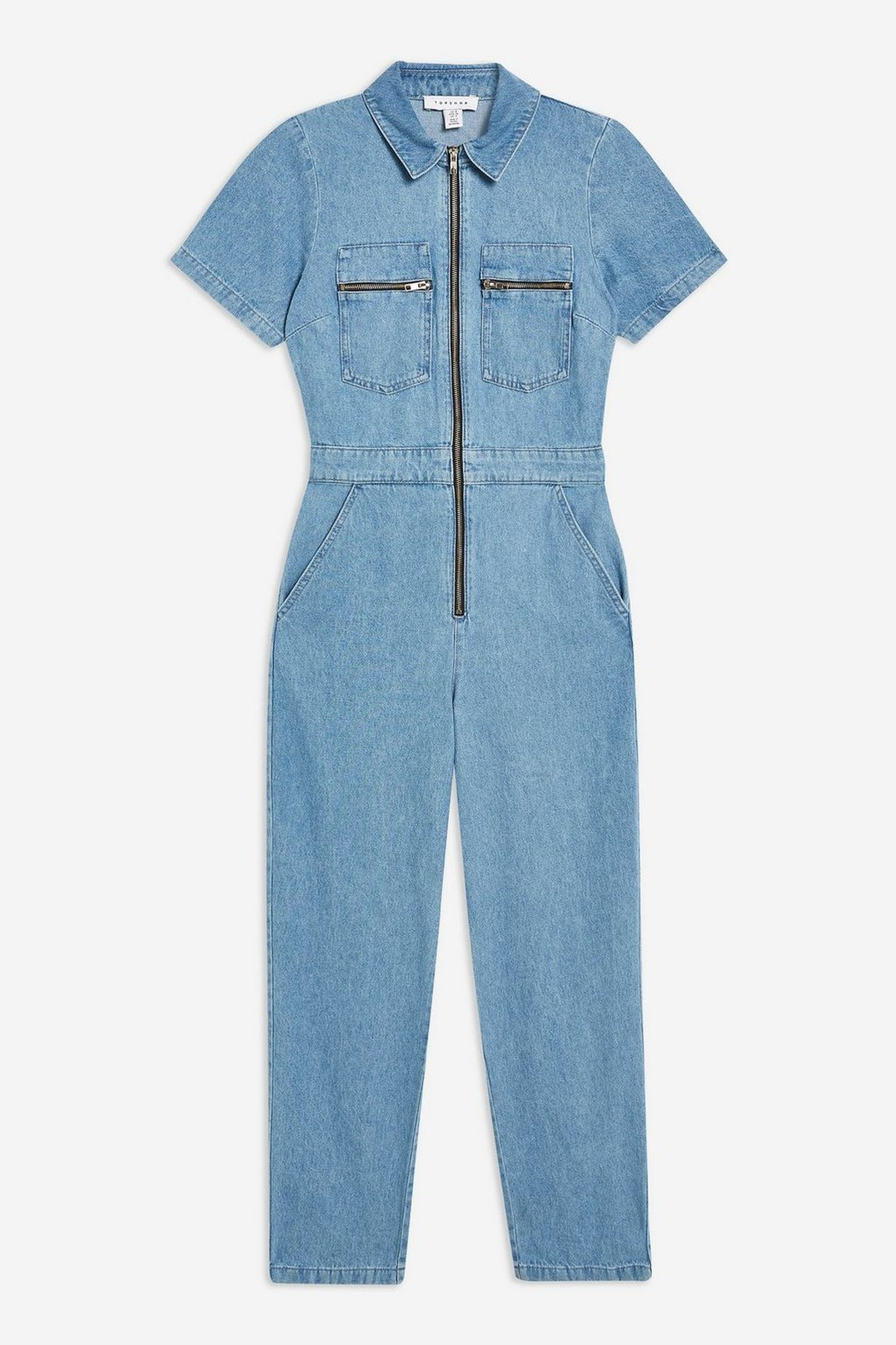 Short Sleeve Denim Boiler Suit