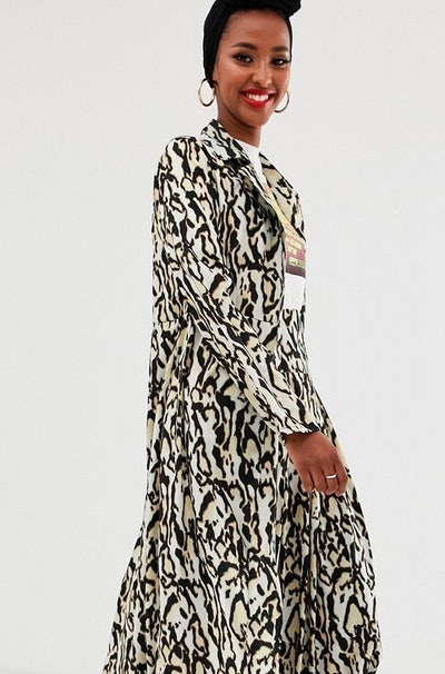 Verona Duster Coat And Maxi Skirt In Leopard Print