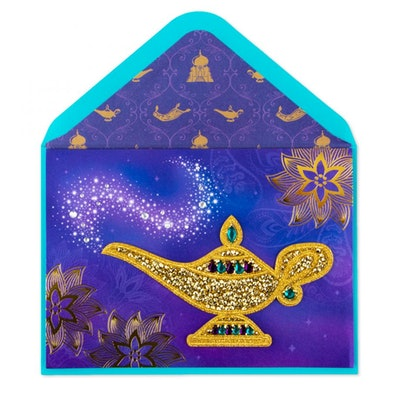 Golden Wishes Birthday Card