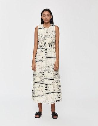 Sleeveless Ink Splash Dress