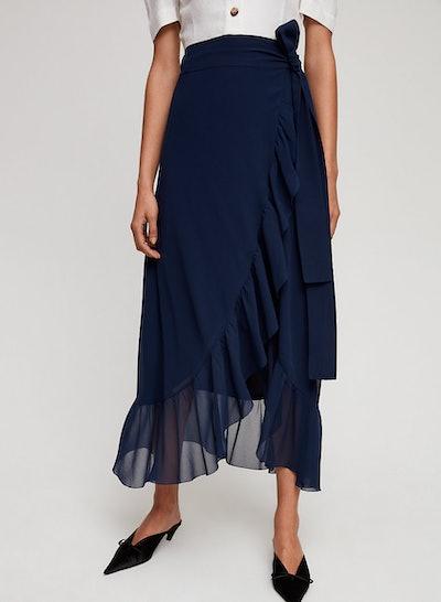 Wilfred Greige Skirt High-Waisted Ruffle Skirt