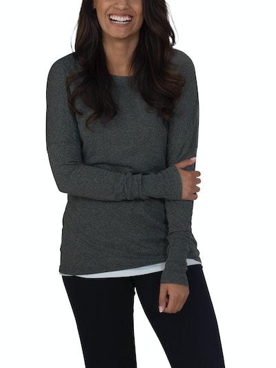 Fruit of the Loom  Women's Essentials Soft Long Sleeve Scoop Neck T-Shirt
