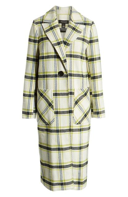 Halogen Plaid Coat