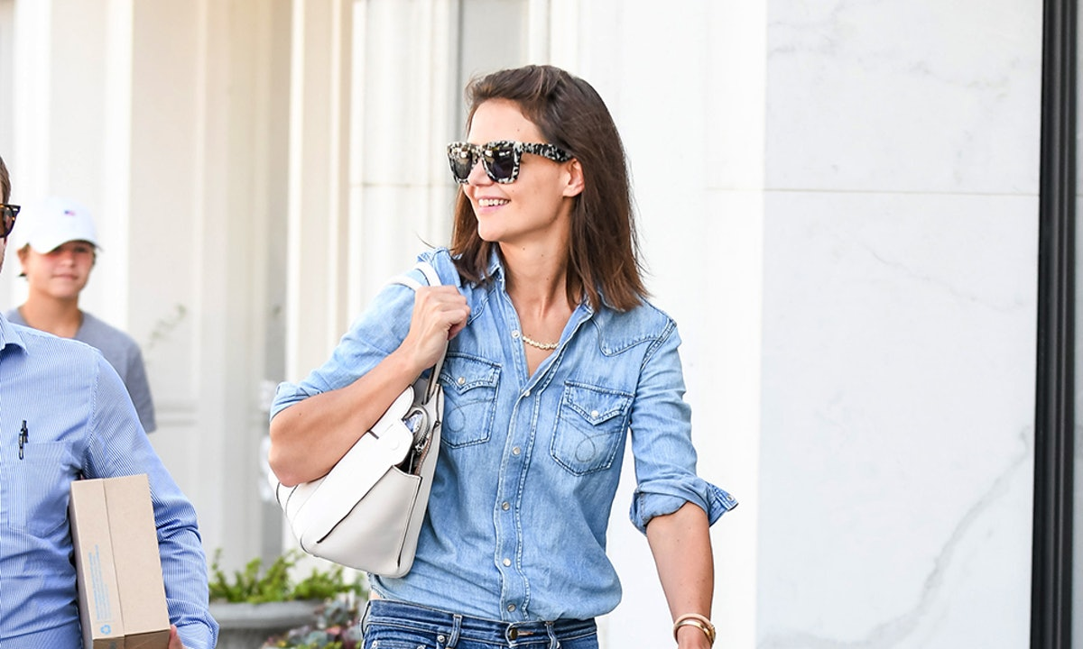 Katie Holmes' Black Flats Are The Wardrobe Essential Every Woman Needs