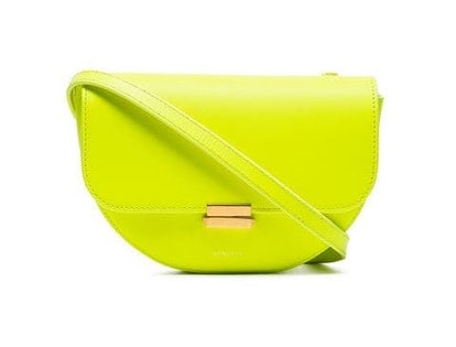 Neon Yellow Anna Flap-Top Leather Belt Bag