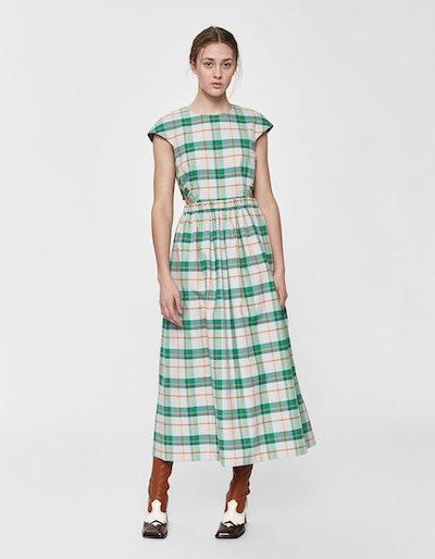 Hani Plaid Cap Sleeve Dress
