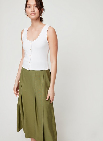 Wilfred Sloane Top Fitted Scoop-Neck Top