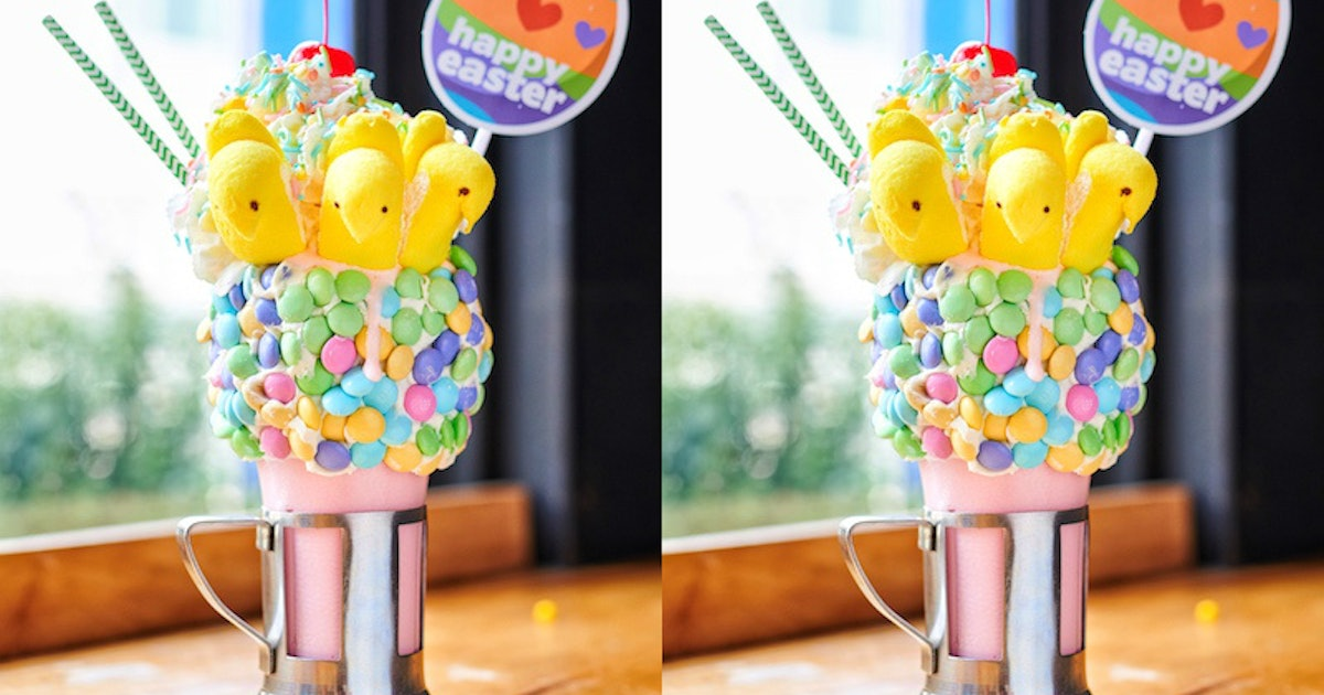 Black Tap's Cherry Peeps Shake For Easter 2019 Is A Sweet Countdown To The Holiday