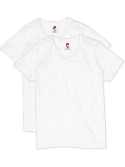 Hanes Women's ComfortSoft Short Sleeve V-neck Tee 2-Pack