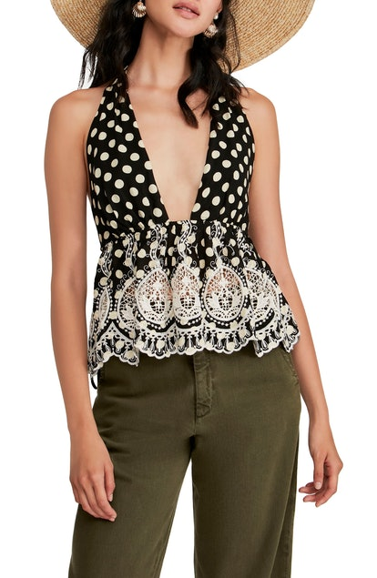 FREE PEOPLE Lunch Date Halter Top