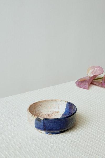 Small Ceramic Bowl in Navy Dip