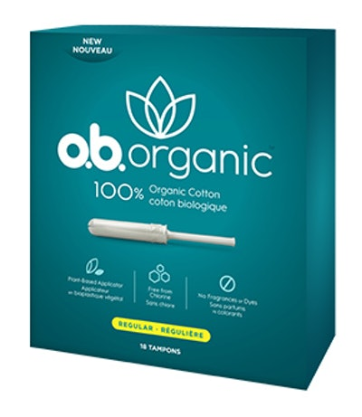 o.b. Organic™ Regular  with Plant-Based* Applicator