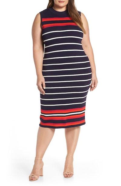 Stripe Knit Sheath Dress