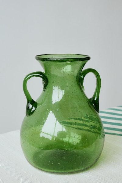 Glass Vase in Emerald
