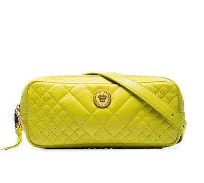 Yellow Medusa Quilted-Leather Belt Bag