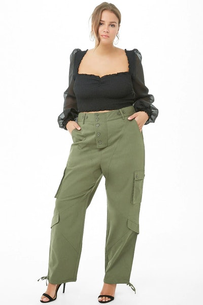 Plus Size Cargo Trousers