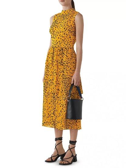 Cheetah-Print Tiered Dress