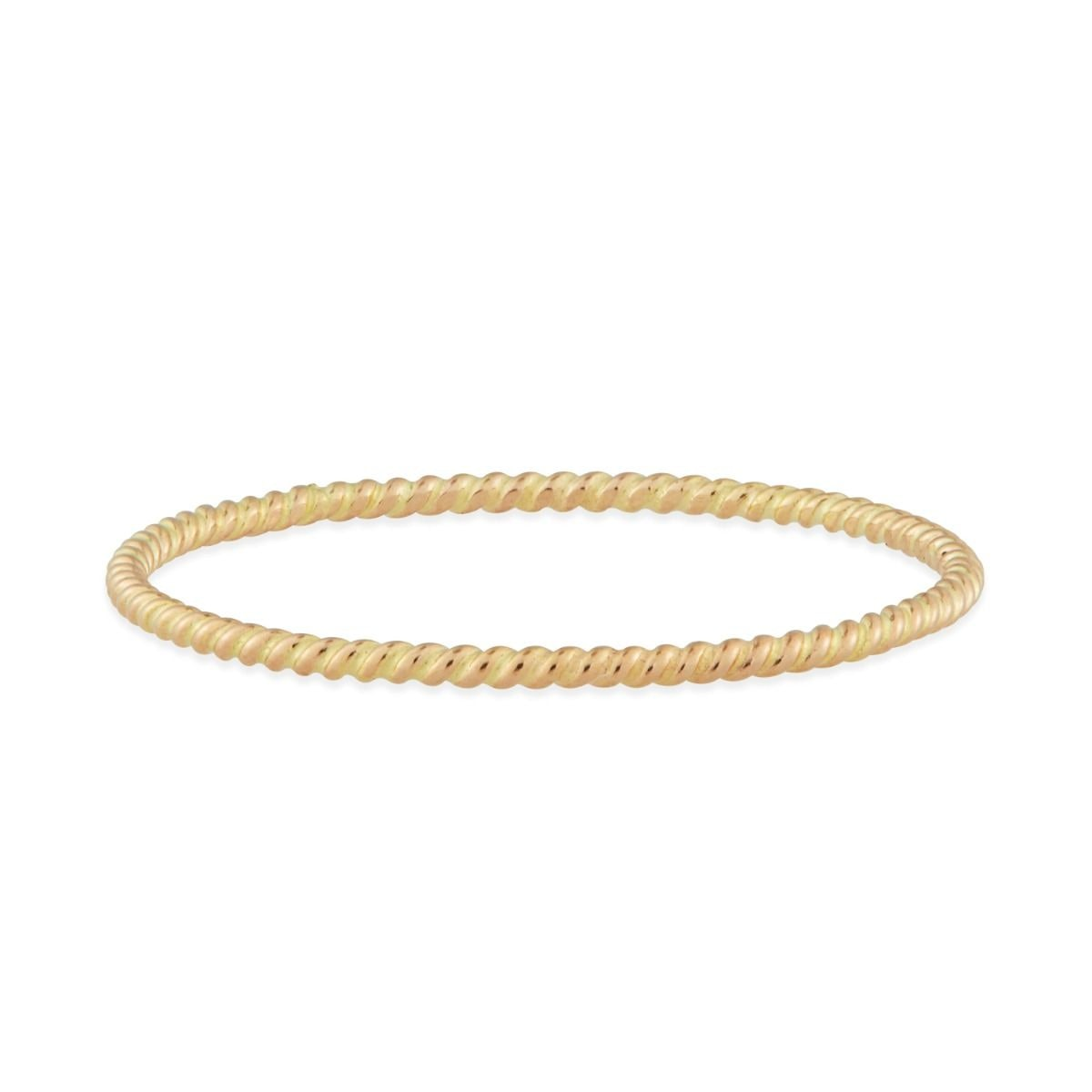 Catbird Twisted Stacker Ring