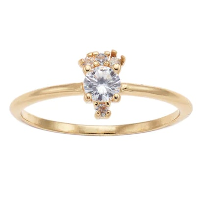 LC Lauren Conrad Simulated Crystal Cluster Ring