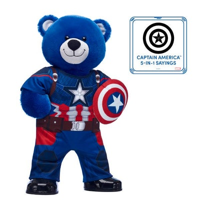 Captain America Bear with Costume and Sound