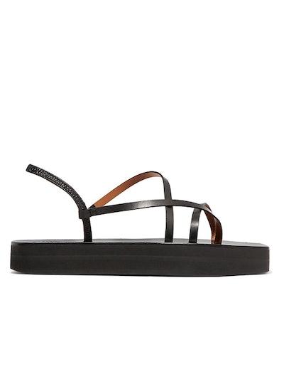 Maremma Leather Platform Sandals