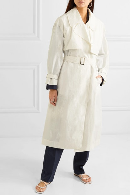 Belted Shell Trench Coat