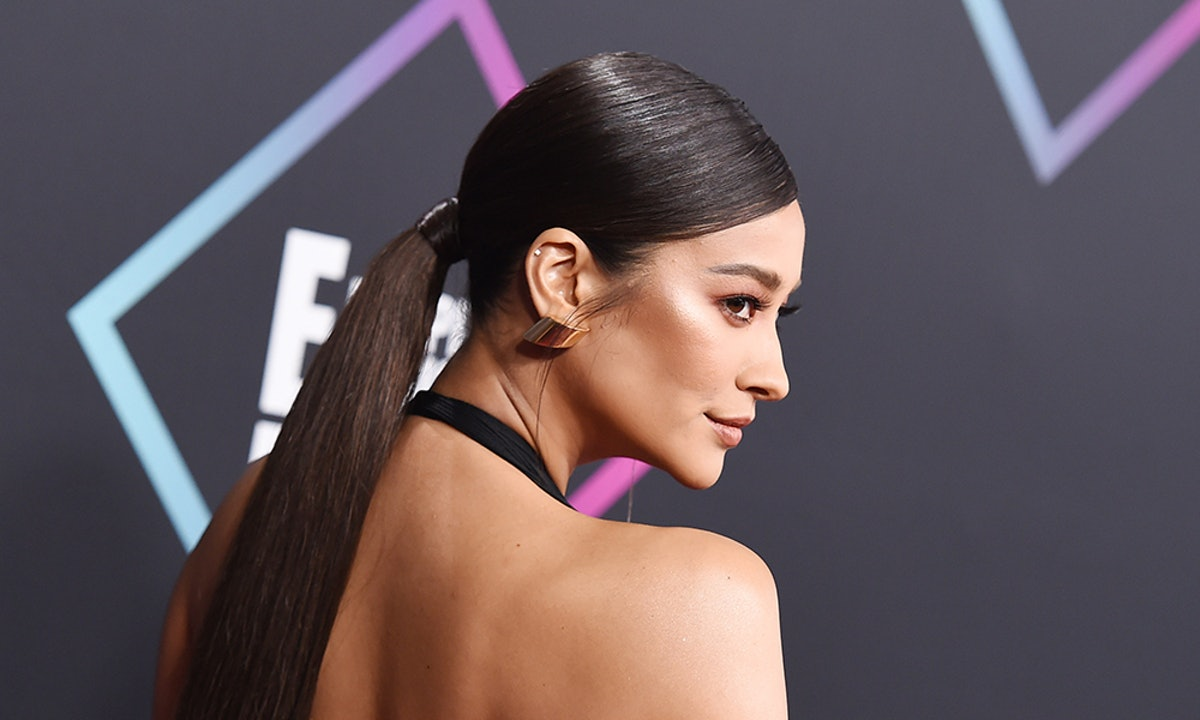 Shay Mitchell's Purple Eyeshadow Is Spring Beauty Done Right