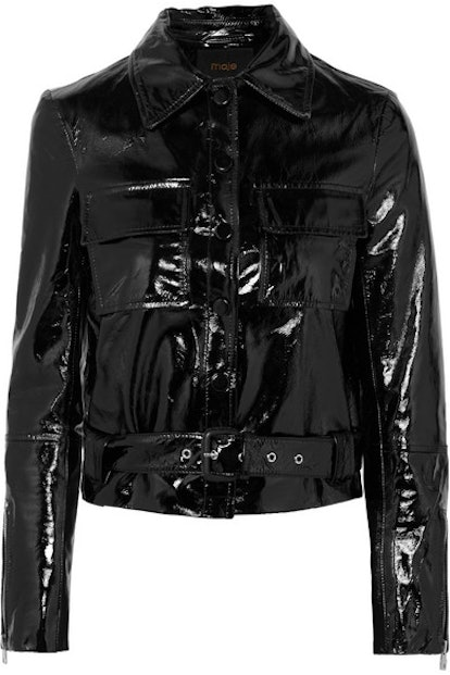 Cropped Patent Leather Jacket