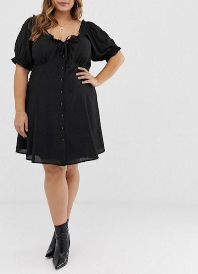 Sweetheart Babydoll Mini Swing Dress