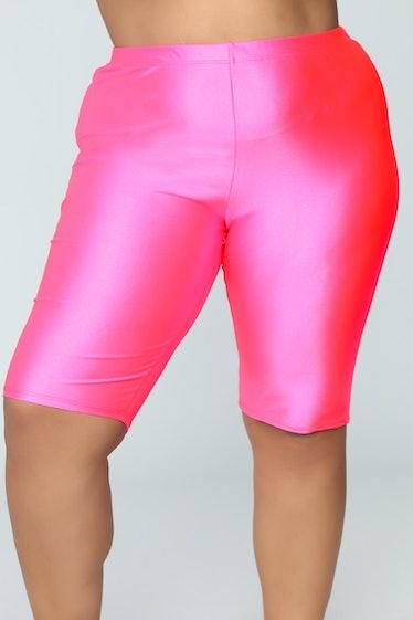 Curves For Days Biker Shorts - Hot Pink
