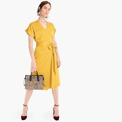 Short-Sleeve Wrap Dress