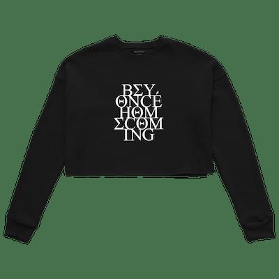 Panther Cropped Black Sweatshirt
