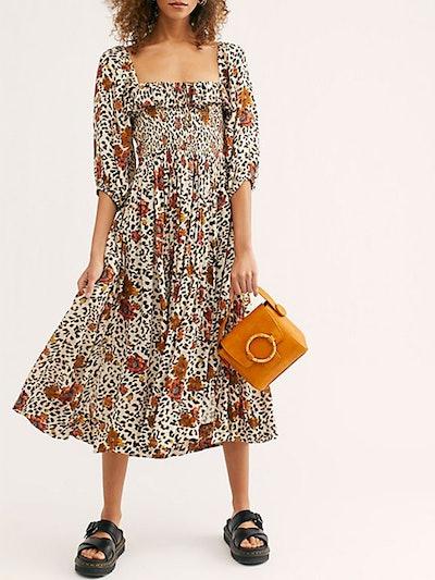 Oasis Printed Maxi Dress