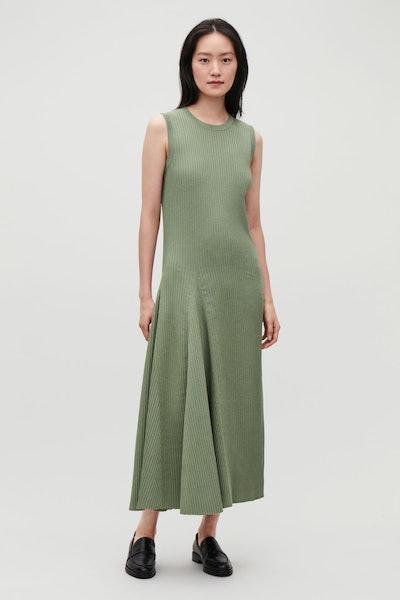Sleeveless Cotton Rib Dress