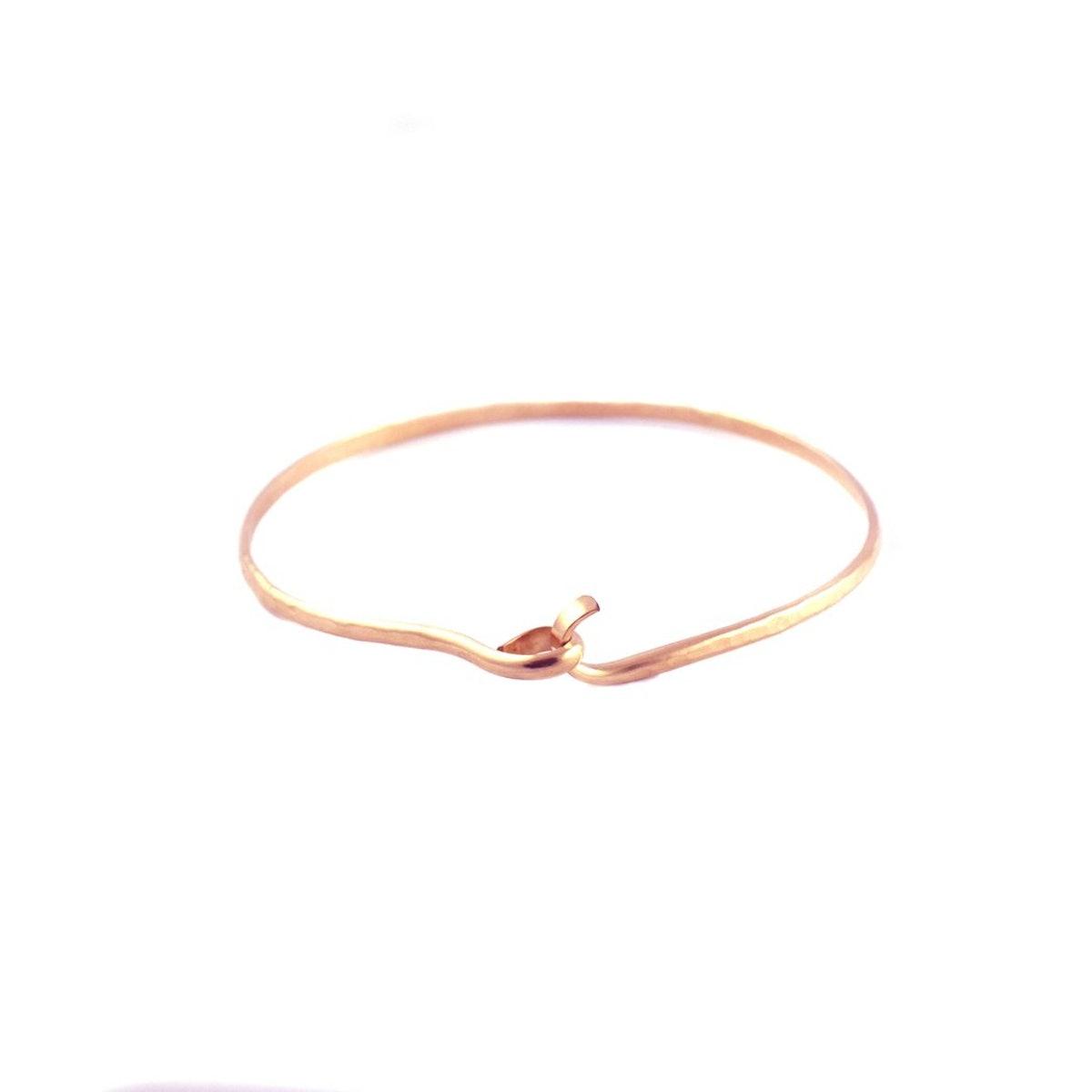 Mallory Shelter Jewelry 14k Rose Goldfill Hook & Eye Bangle