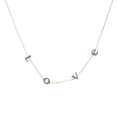 Dogeared Do All Things With L-O-V-E  Letter Short Necklace