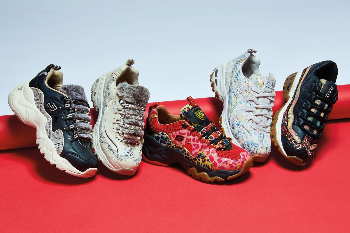 This Summer 2019 Sketchers' D'Lites, D'Lites 3.0, & Energy Furry Makeover Is Making Sneakers Luxe AF
