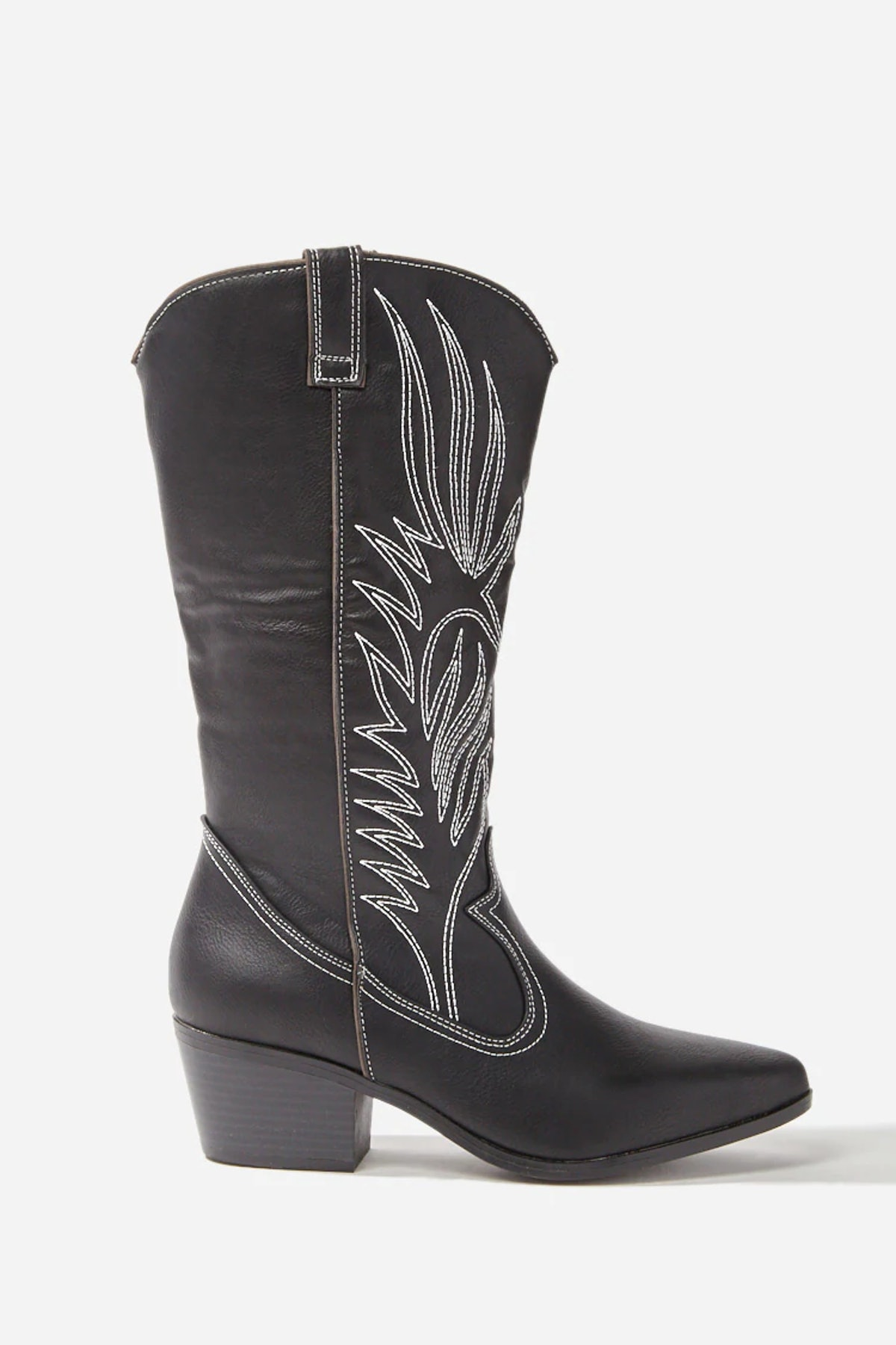 Faux Leather Western Boots