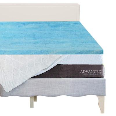 Advanced Sleep Solutions Queen Gel Memory Foam Topper