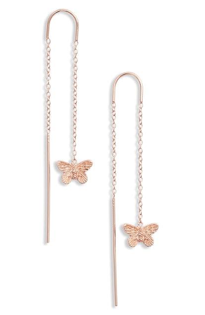 Olivia Burton Butterfly Thread-Through Earrings