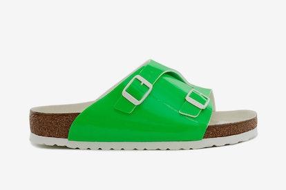 Fluorescent Sandal in Green