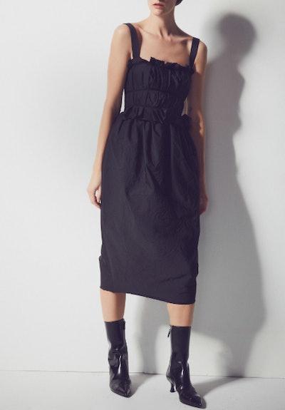 Palmira Ruched Crepe Midi Dress