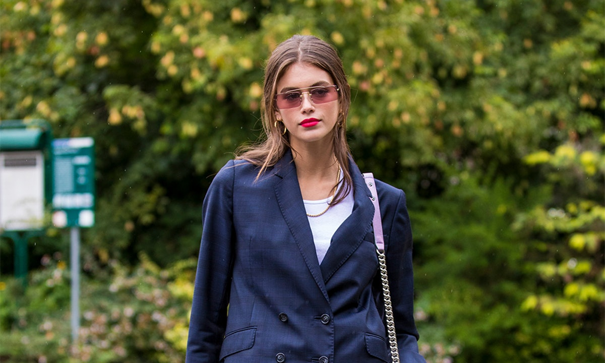 4 So-Easy Ways To Style A Blazer, According To Kaia Gerber
