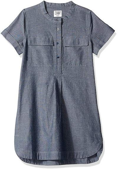 LOOK by crewcuts Girls' Chambray Shirt Dress