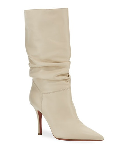 Ida Leather Scrunched Boots