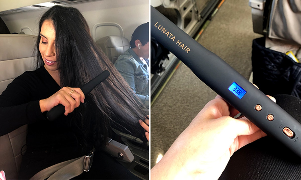 This Lunata Wireless Rechargeable Touch-Up Iron Cordless Straightener Review Will Change Your In-Flight Beauty Routine
