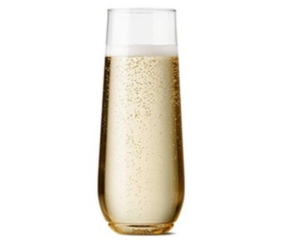 TOSSWARE Plastic Champagne Flutes (Set of 12)