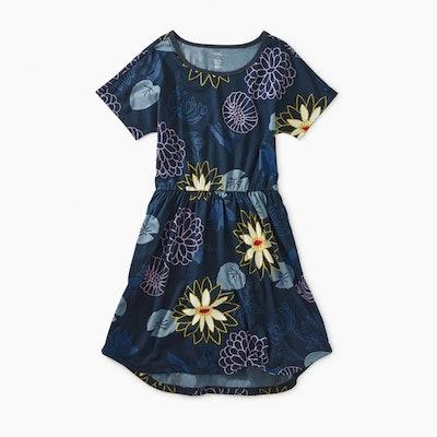 Printed Elastic Waist Dress